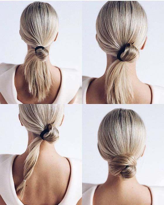 23 Super Easy Updos für vielbeschäftigte Frauen | StayGlam, # Frisuren, # Haare, # Haarschnitte, #s …   – hair