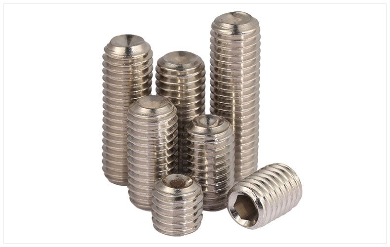 M4 304 Stainless Steel Hex Socket Set Screws With Cup Point Grub Screw DIN916 B2