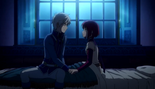 Watch Snow White With The Red Hair Episode 5 Live Stream Free Online Shirayuki And Zen Hold Hands Snow White With The Red Hair Anime Snow Snow White