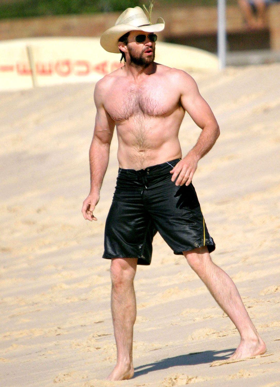 Hugh Jackman S Hunky Beach Bod Hugh Jackman Shirtless Hugh Jackman Jackman