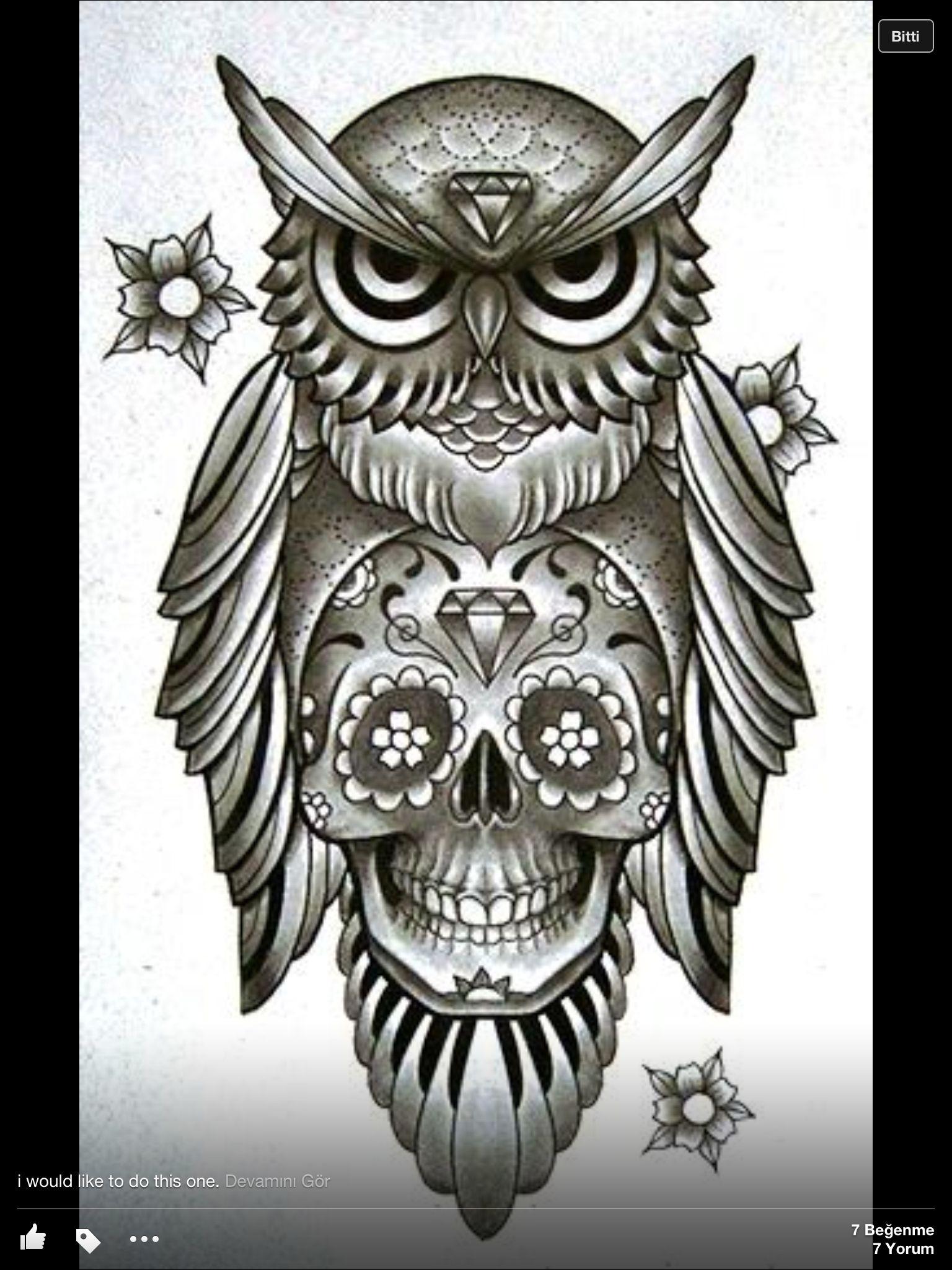 Owl n skull | Things i love | Pinterest | Body art and Tattoo - photo#6