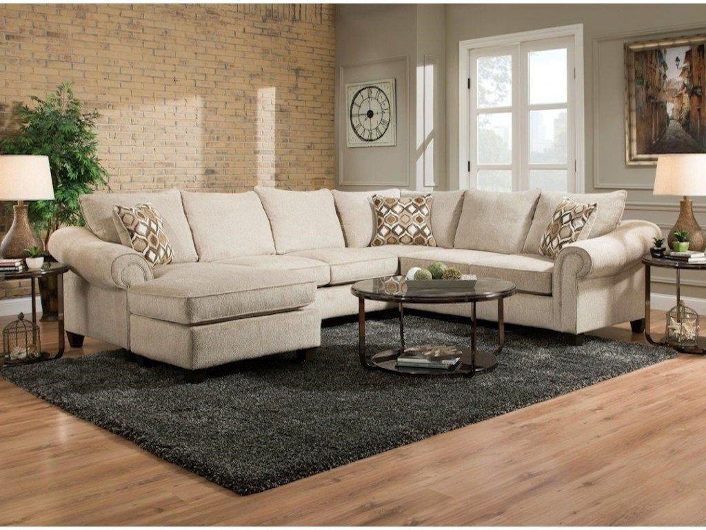 American Furniture 2800 Sectional Sofa with Chaise on Left Side - Miskelly Furniture - Sofa Sectional : couch with chaise on left side - Sectionals, Sofas & Couches