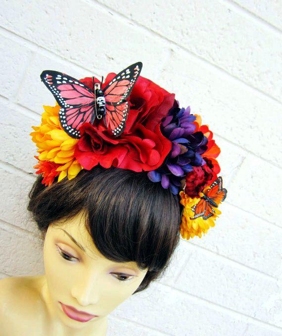 Dia de los Muertos flower headband
