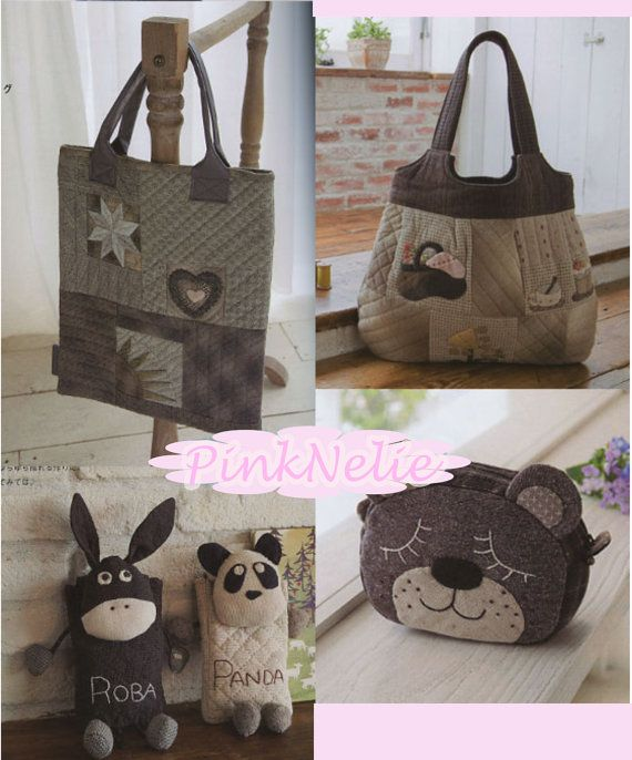 Adult Handmade Bags n Pouches Japanese Craft Book by PinkNelie