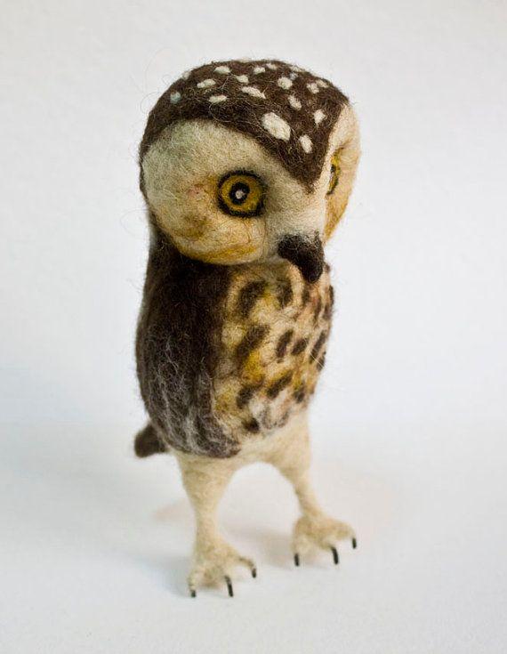 needle felted owl oh goodness