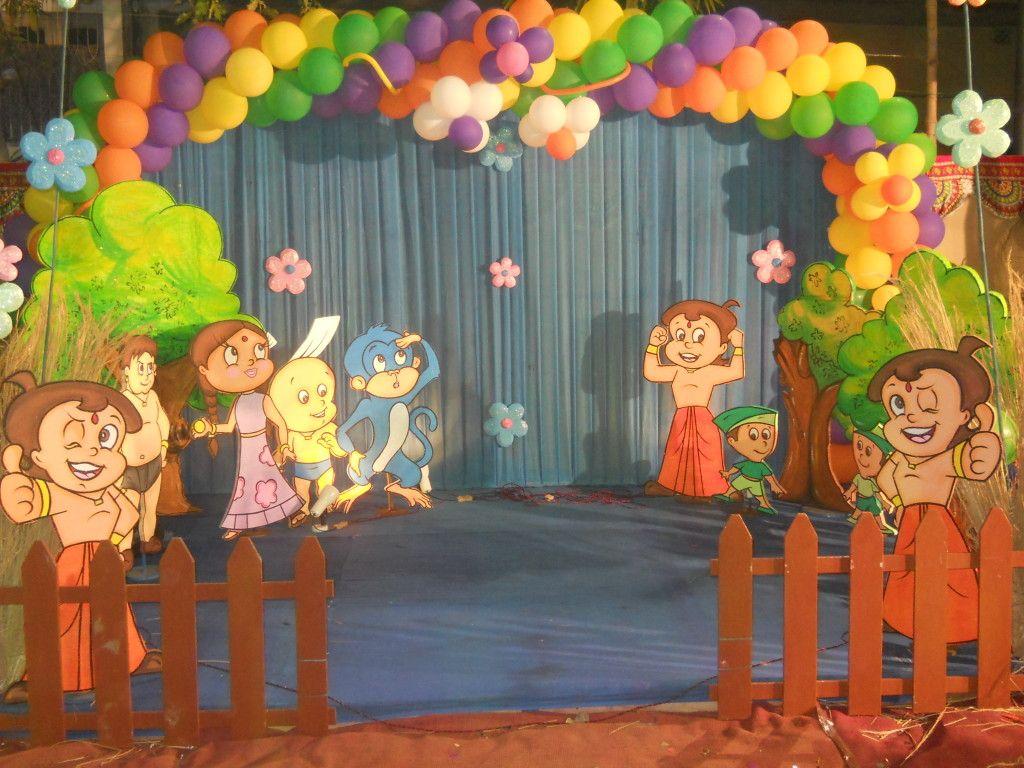 Chhota Bheem Birthday Party Decoration Feting Your Kid S Birthday