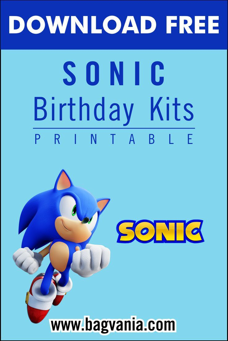 Free Printable Sonic The Hedgehog Birthday Party Kits Template Hedgehog Birthday Sonic Birthday Sonic Party