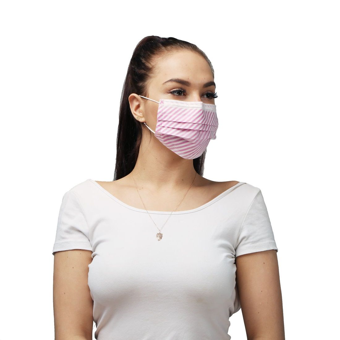 pink disposable face mask