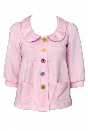 Bluza de tricot baby doll - Pink