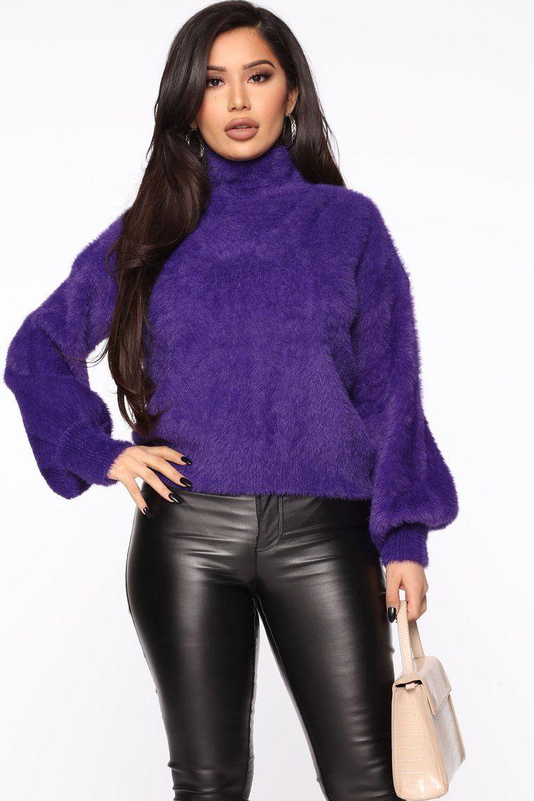 Warm Cuddles Sweater Purple in 2020 Purple sweater