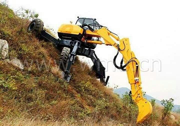 spider excavator construction logging