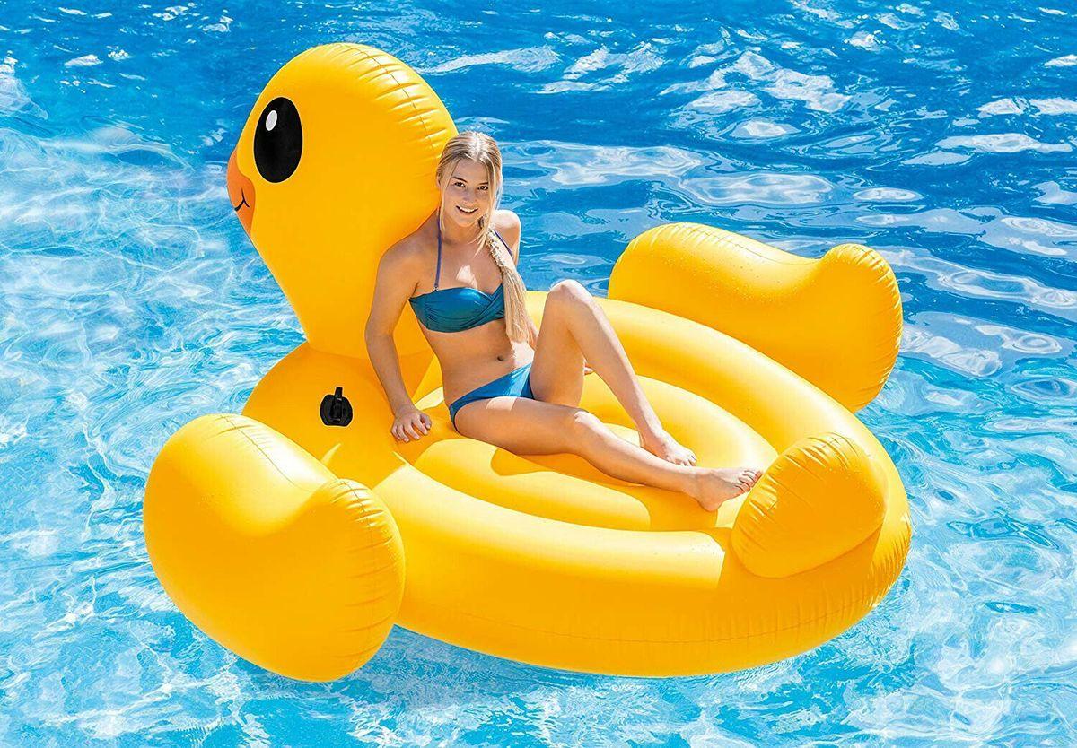 Neu Eingetroffen Intex 56286 Aufblasbare Ente Figur Aufblasware Luftmatratze 221 X 221 X 109 Cm Ecommerce Onlineshop Angebot In 2020 Aufblasbar Schwimmen Ente