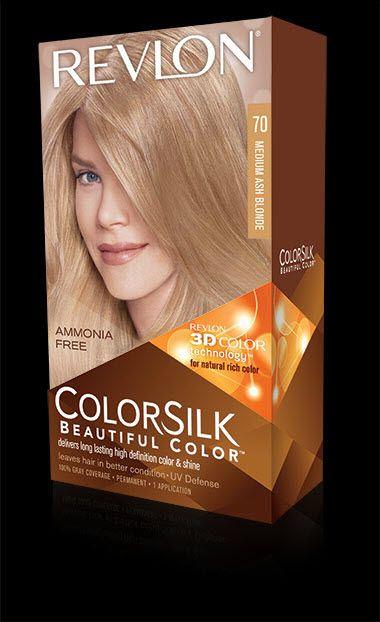 Revlon Colorsilk Beautiful Color In 70 Medium Ash Blonde Dyed