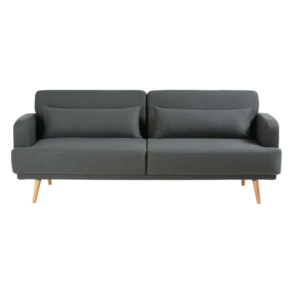 Ausziehbares 3 Sitzer Sofa Grau Sofa Schlafsofa Couch Grau