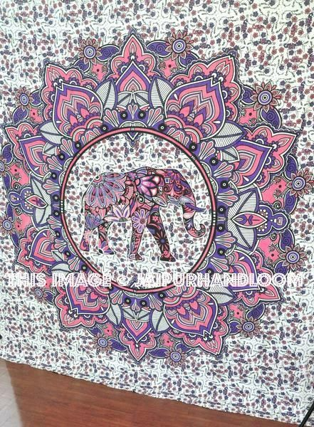 Pink Extra Large Tapestries Hippie Wall Hanging For Dorm Room Wall Decor Elephant Tapestry Mandala Tapestry Hippie Tapestry