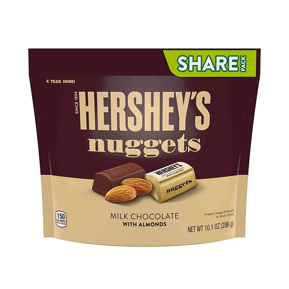 Hershey S Nuggets Milk Chocolate With Almonds Candy 10 1 Oz Pack