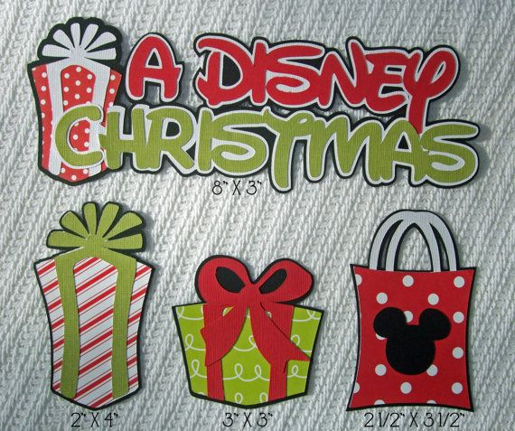 "Disney Scrapbook Page Embellishments ""A Disney Christmas"