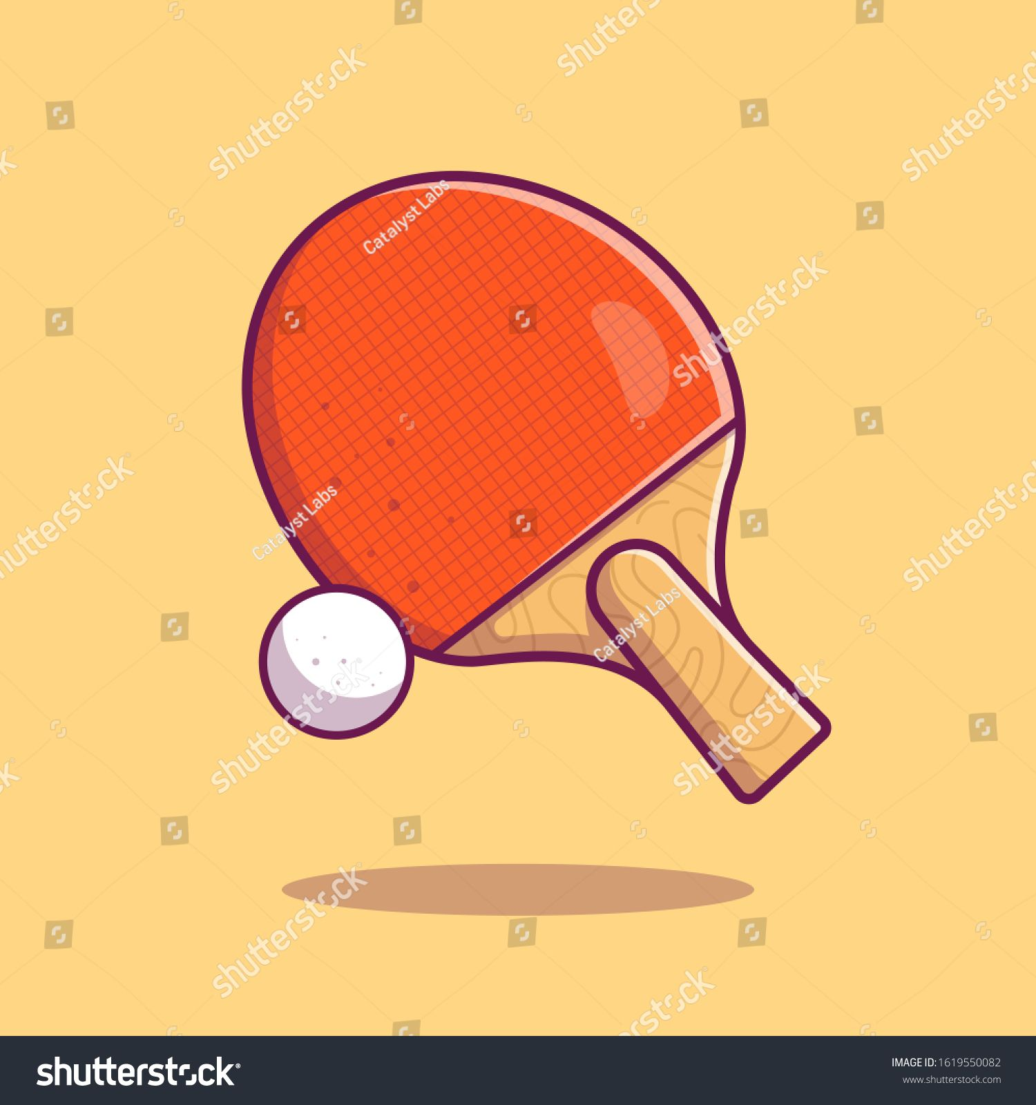 Table Tennis Vector Icon Illustration Racket Ball And Ping Pong Sport Icon Concept White Isolated Flat C In 2020 Vector Icons Illustration Table Tennis Vector Icons