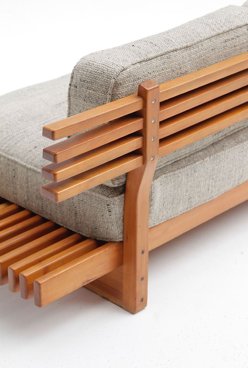 y sofa console handcrafted 1960s madera furniture bench