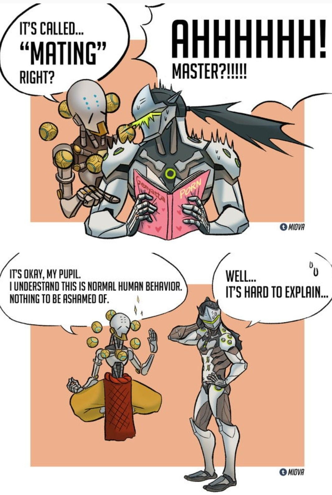 OMG in the magazine reads genyatta     genji you sneaky