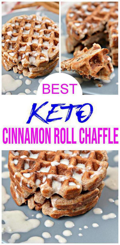 Keto Waffles Low Carb Keto Cinnamon Roll Chaffle Recipe