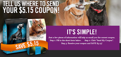 5 15 Off One Package Of Purina Pro Plan Dog Cat Food Printable Coupon Purina Pro Plan Dogs Purina Purina Pro Plan