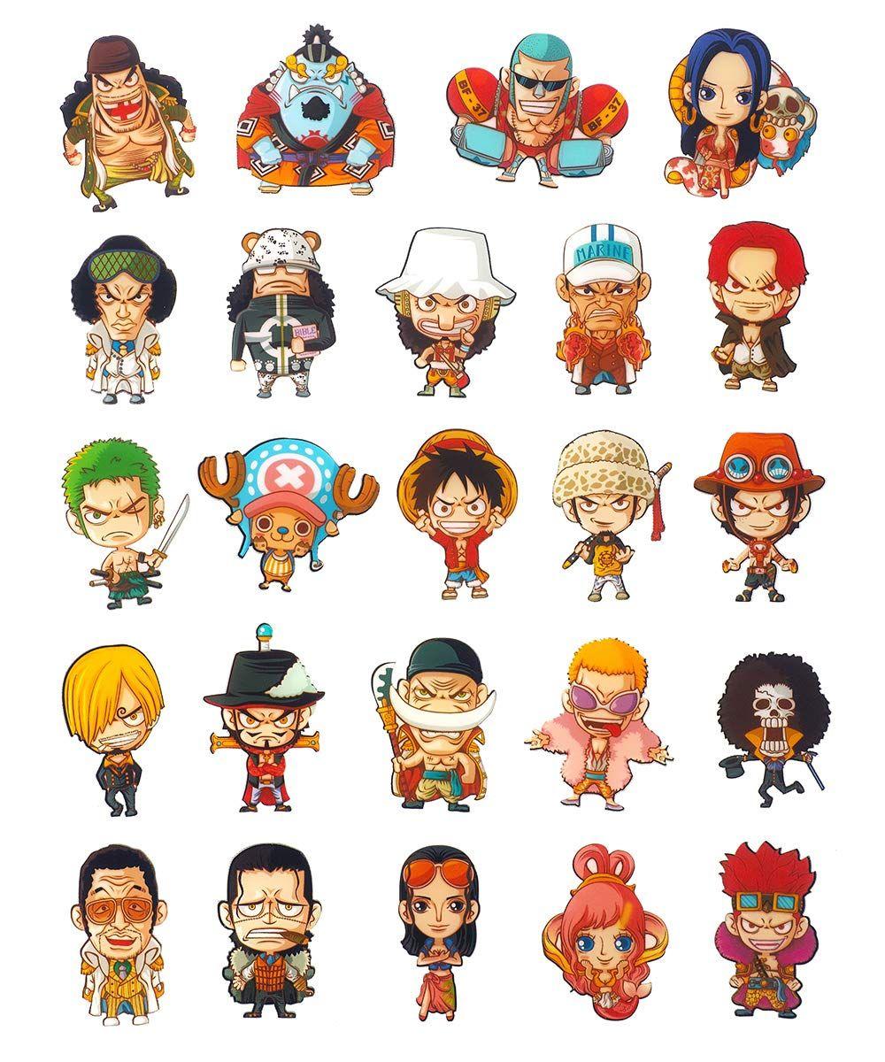 24 Magnets Avec Les Personnages Chibi De One Piece Personnages Chibi Chibi Anime One Piece