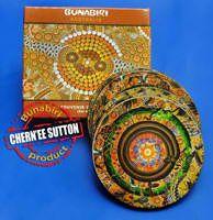 Bunabiri Coaster Set Chern'ee Sutton - Wanaka  (set 6) - same design cork back  Code: CSTR:CS/WRND Price: $6.50