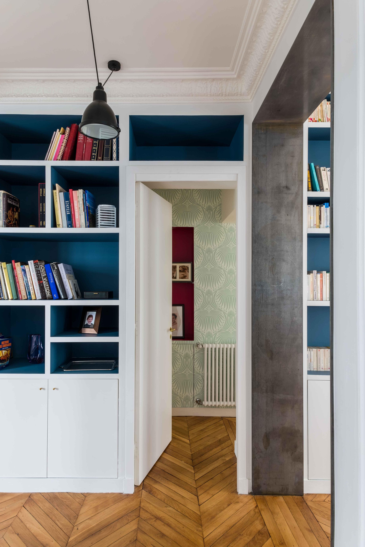 placards sur mesure papier peint floral mais l ger. Black Bedroom Furniture Sets. Home Design Ideas
