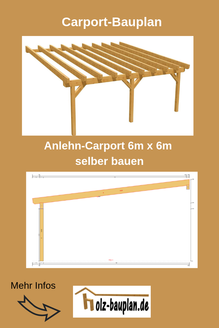 Bauplan Carport 6x6m Carport Selber Bauen Carport Bauplan Carport Bauen