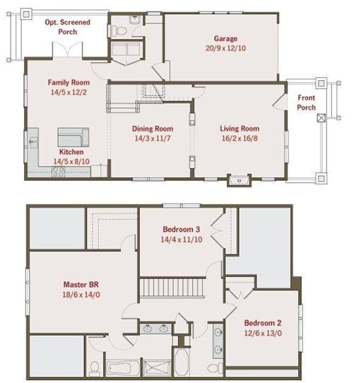 Planos de casa tipo americana con 3 dormitorios proyecto for Disenos de casas americanas