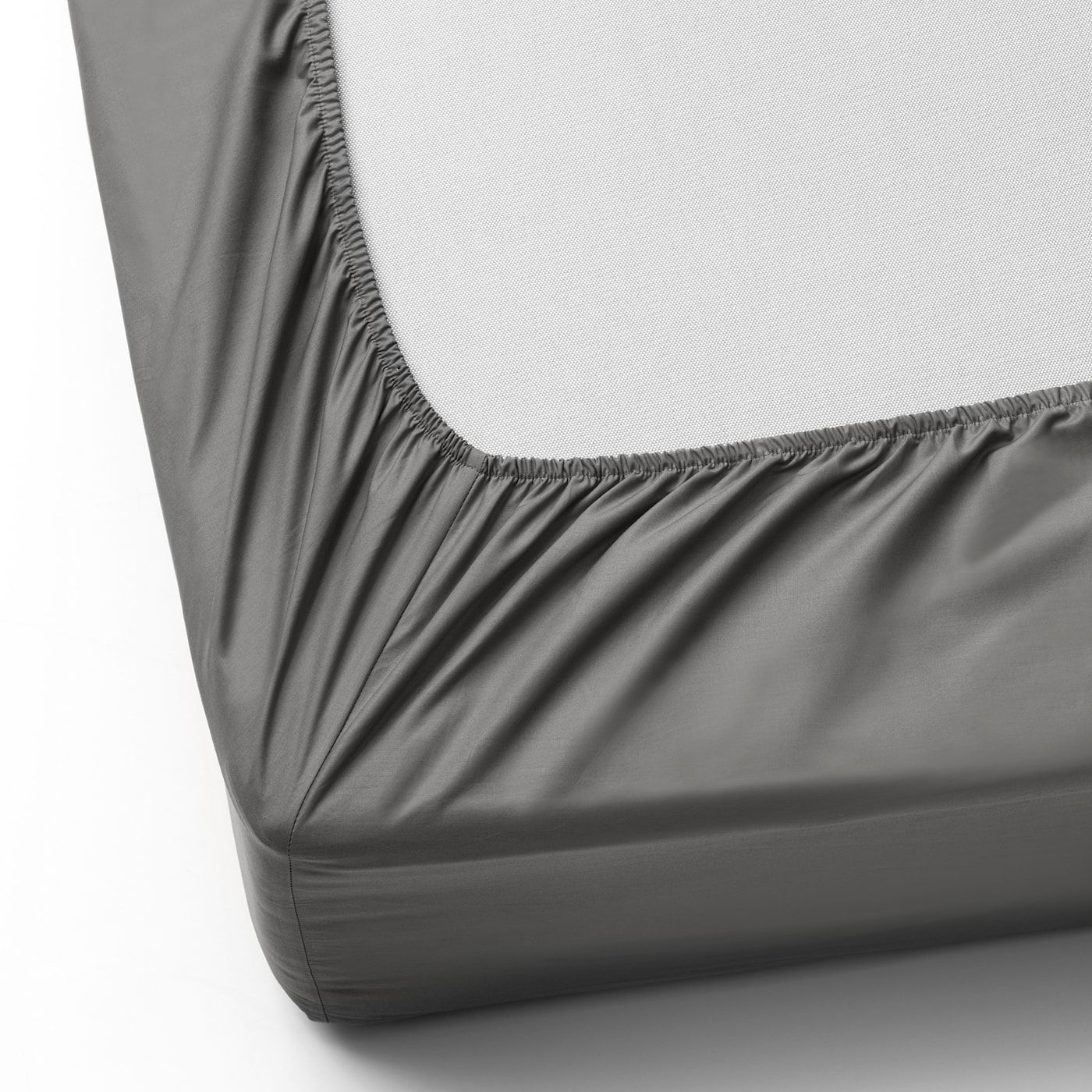 Ikea Ullvide Gray Fitted Sheet In 2020 Spannbettlaken Bettlaken