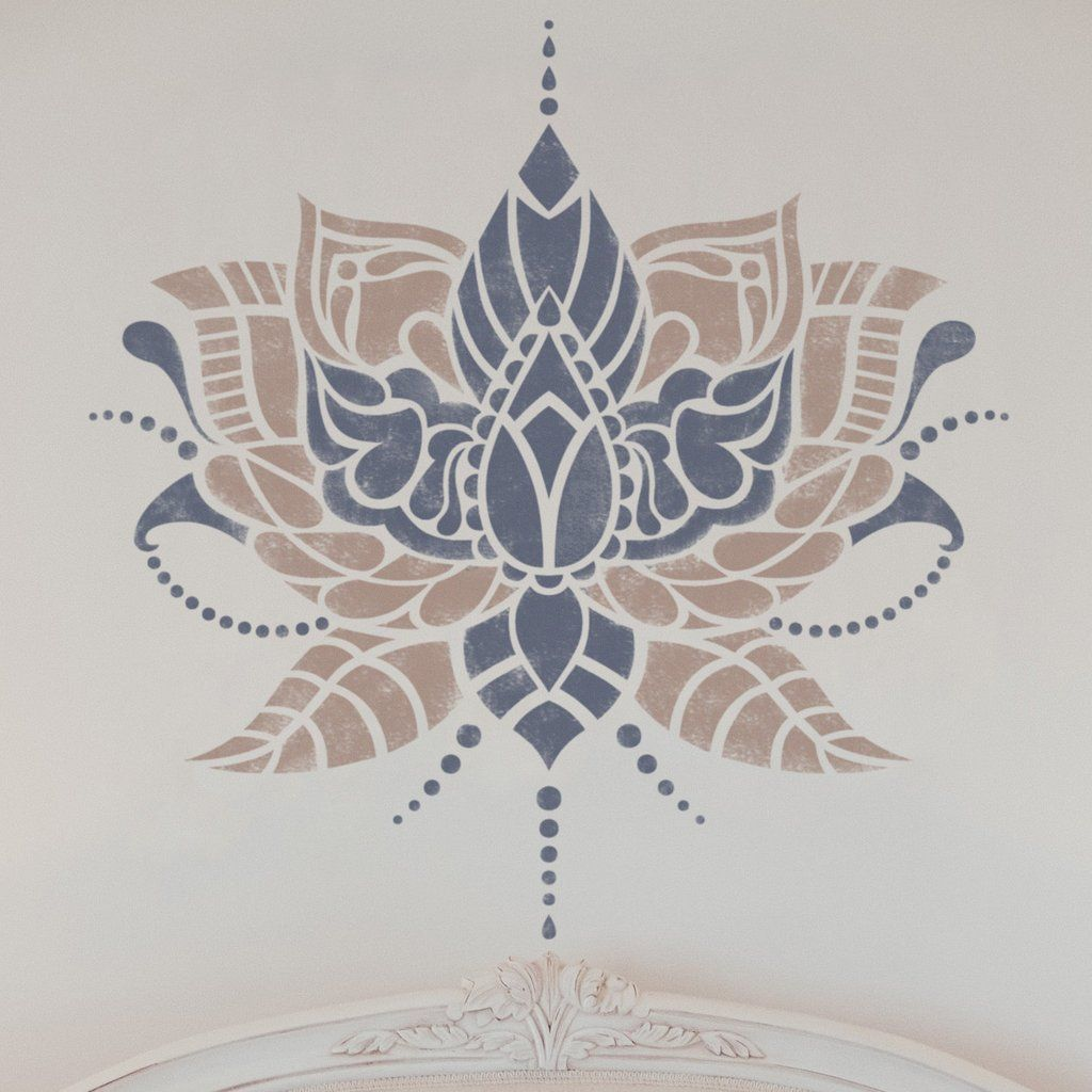 Indian flower wall stencil stencil for painting walls wall indian flower wall stencil stencil for painting walls amipublicfo Image collections