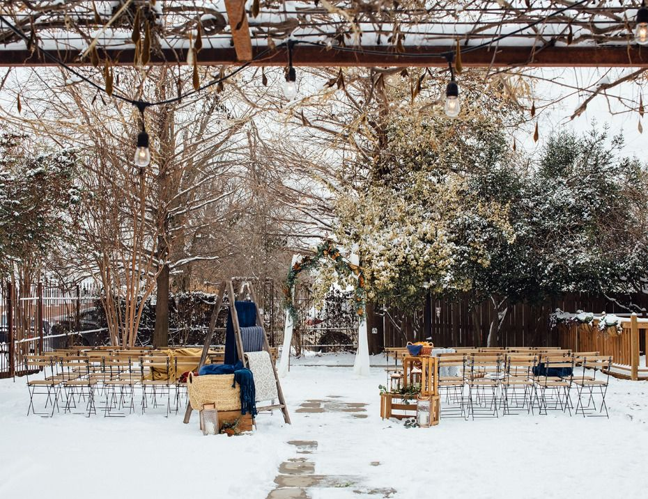A Surprise Snow Storm Made this Wedding a Winter ...