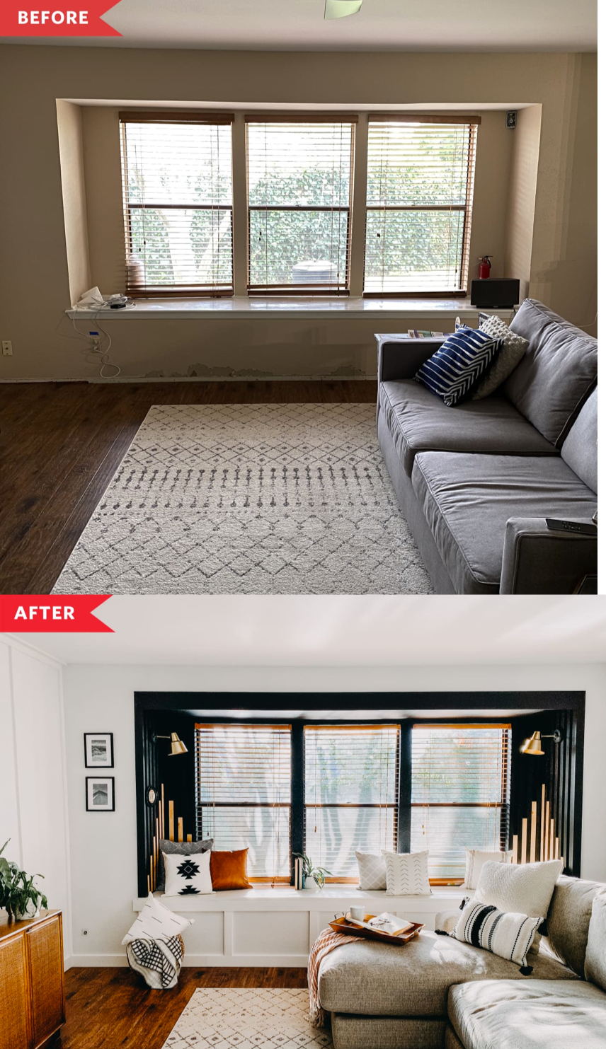 Photo of Before and After: $200 Made this Living Room Window Seat a Dramatic Focal Point
