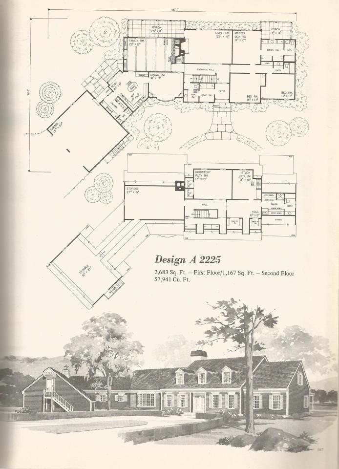 Vintage House Plans 2225 Vintage House Plans Vintage House