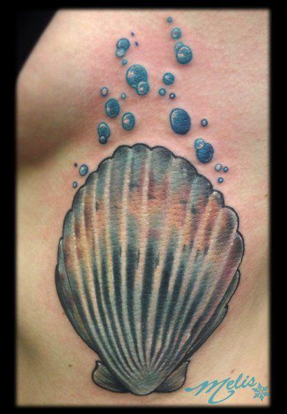 scallop tattoo melissa fusco scallop shell tattoo denver colorado rh pinterest com Shell Tattoo Designs scallop shell tattoo meaning