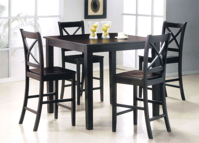 Kitchen High Top Kitchen Tables And Chairs With Black Chairs Using
