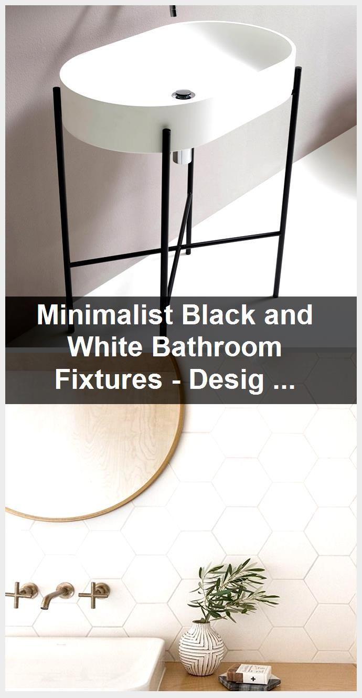 Photo of Minimalist Black and White Bathroom Fixtures – Design Milk,  #Bathroom #black #Design #Fixtur…