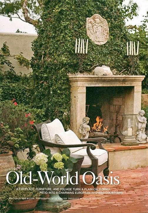 Old World Courtyard Fireplace Mantels And Outdoor