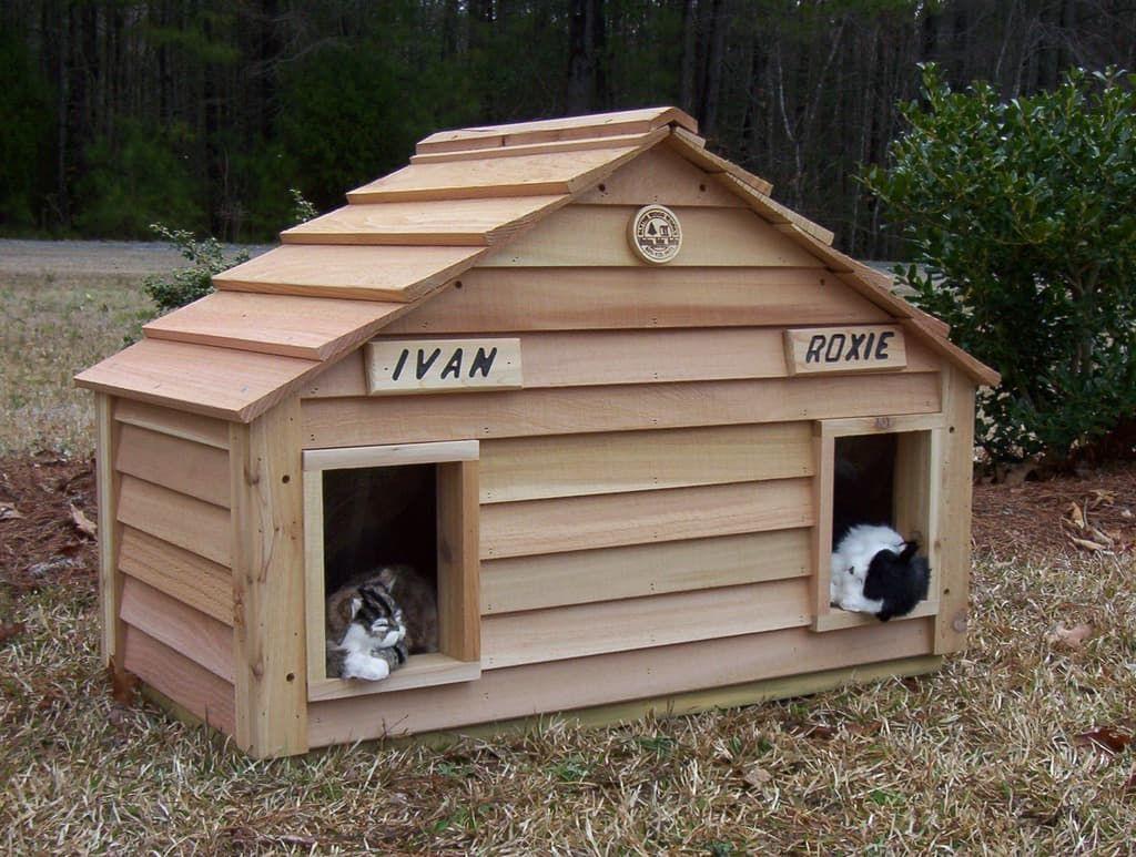 "Photo of 20"" Cat House Duplex – Custom Dog & Cat Houses by Blythe Wood Works"