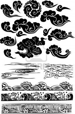 classique nuage d 39 eau de mer ic ne tattoo pinterest. Black Bedroom Furniture Sets. Home Design Ideas