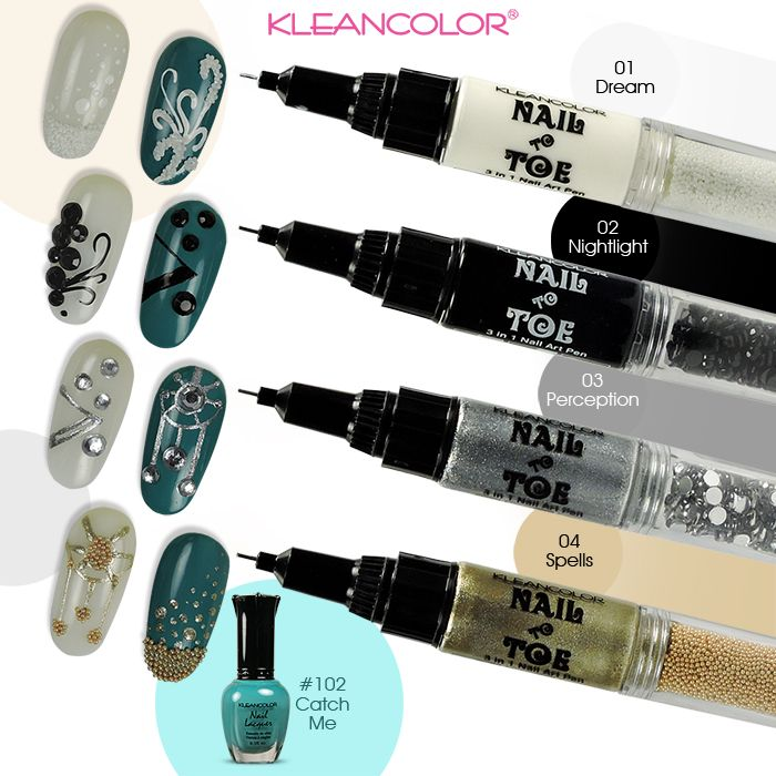 NOTD Try out #kleancolor Nail to Toe 3-in-1 nail art pen (NTT1817 ...