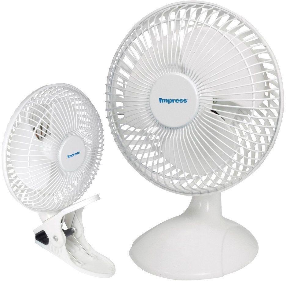 Clip-On Desk Fan 6-inch Portable Dual Purpose Rubber Clip 120 Volt Air Cooling #PortableDualFan