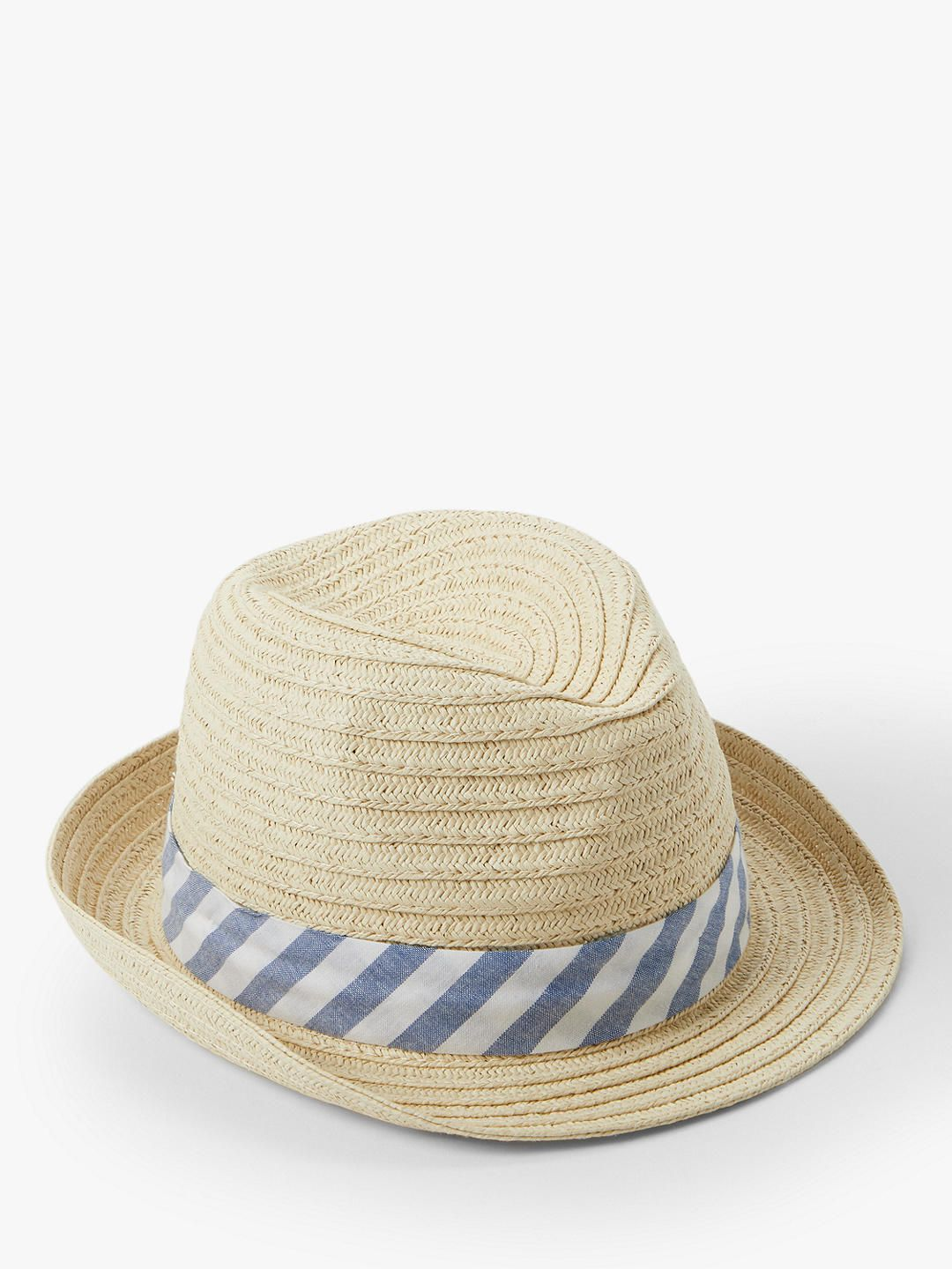 65288e1a28f7a6 John Lewis & Partners Baby's Straw Trilby Woven Hat, Natural at John Lewis  & Partners
