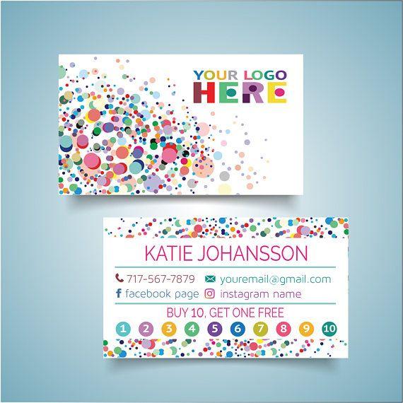 Customized Dot Dot Smile Business Card Printable Digital Colorful Cards Two Sided Polka Dot Printable Business Cards Business Card Maker Dot Dot Smile