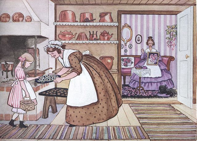 Tasting cookies from Aunt Brown, Aunt Green & Aunt Lavender (Tant Brun, Tant Grön & Tant Gredelin) by Silverbluestar, via Flickr