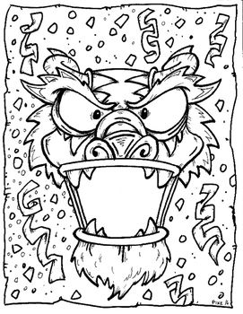 Coloring Page For Chinese New Year