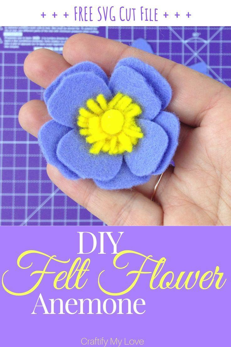 DIY Felt Flower: Anemone – 1 of 5 #feltflowertemplate