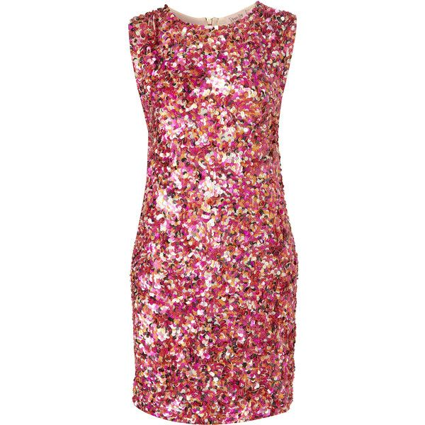 Squiggle Sequin Dress By Dress Up Topshop** ($70) ❤ liked